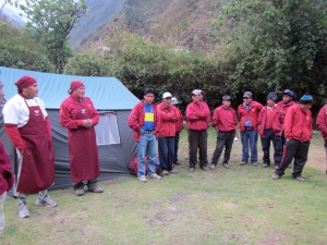 Formal introductions with our porters.