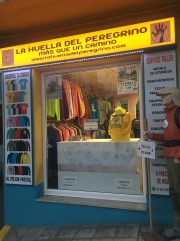Ionut's shop in the main street of Palas de Rei.