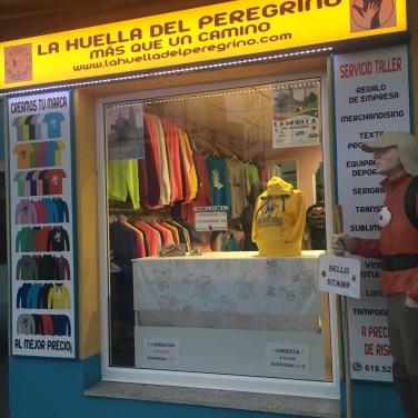 Ionut's shop in the main street of Palas de Rei.
