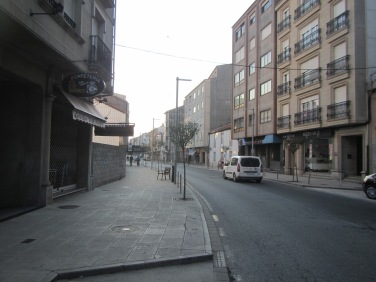 The streets were deserted at 9.00am!