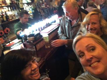 Beers with bank robbers.