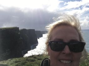 Selfies at the Cliffs of Moher.